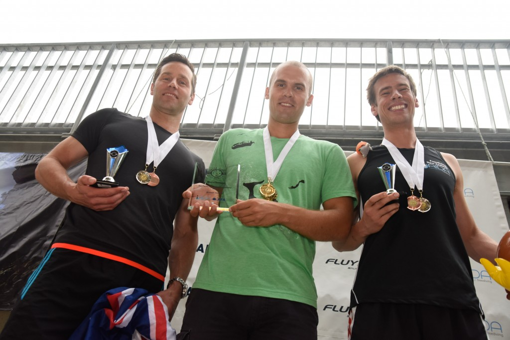 Ant Williams (NZL, 2nd), Alexey Molchanov (RUS, 1st), Chris Marshall (NZL, 3rd)